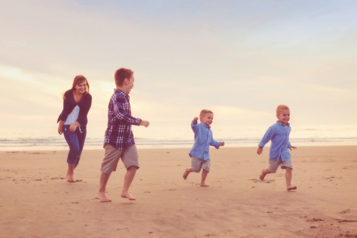 Family time at the beach!
